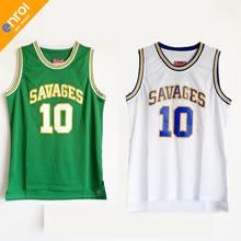 The Worm Dennis Rodman OKLAHOMA SAVAGES College Basketball Jerseys 10   Green and White Throwback Stitched e75a67c84