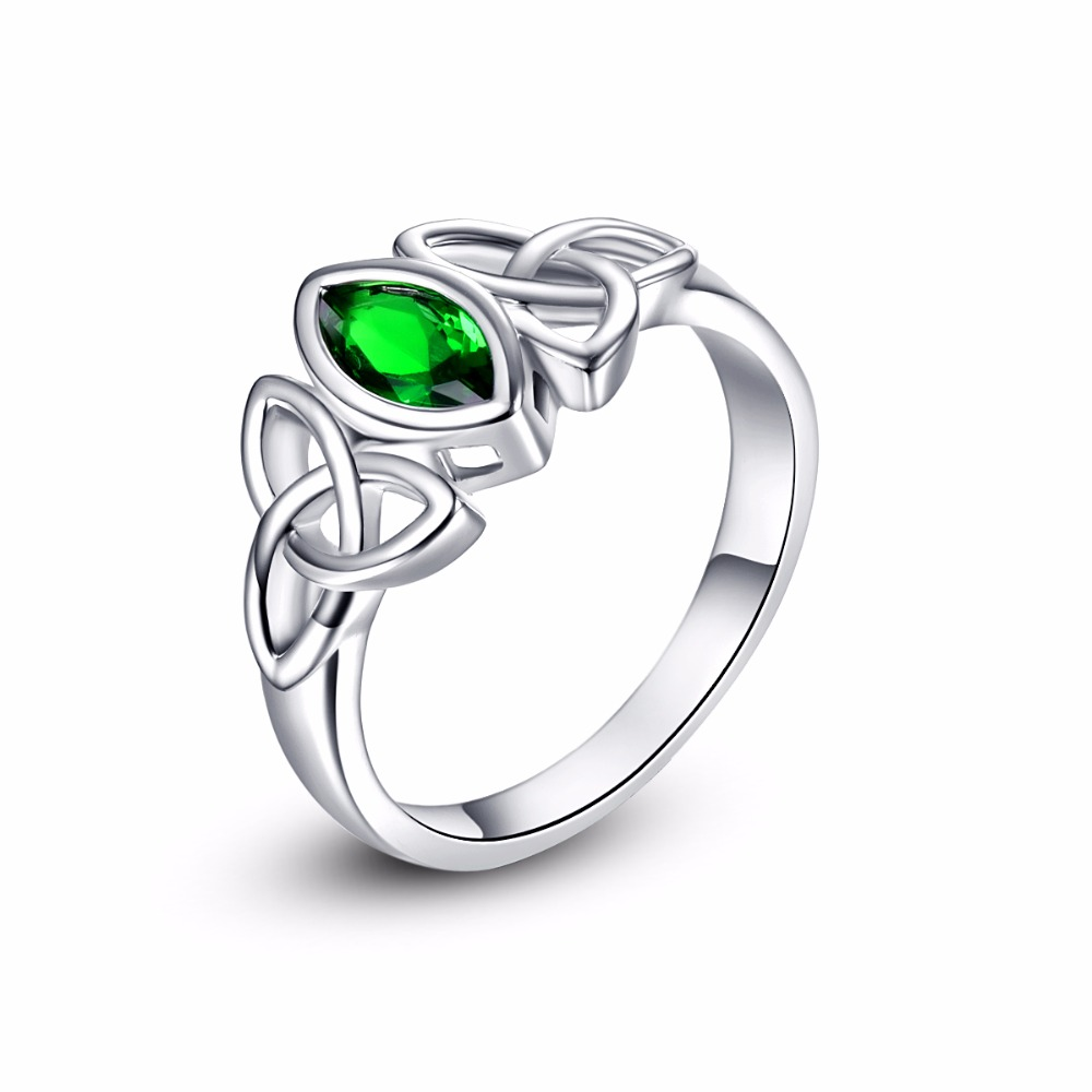 Latest Female Imitation Emerald Green Stone Ring For Women Hot Wedding Crystal Brand Jewelry New Design Promise Rings Wholesale