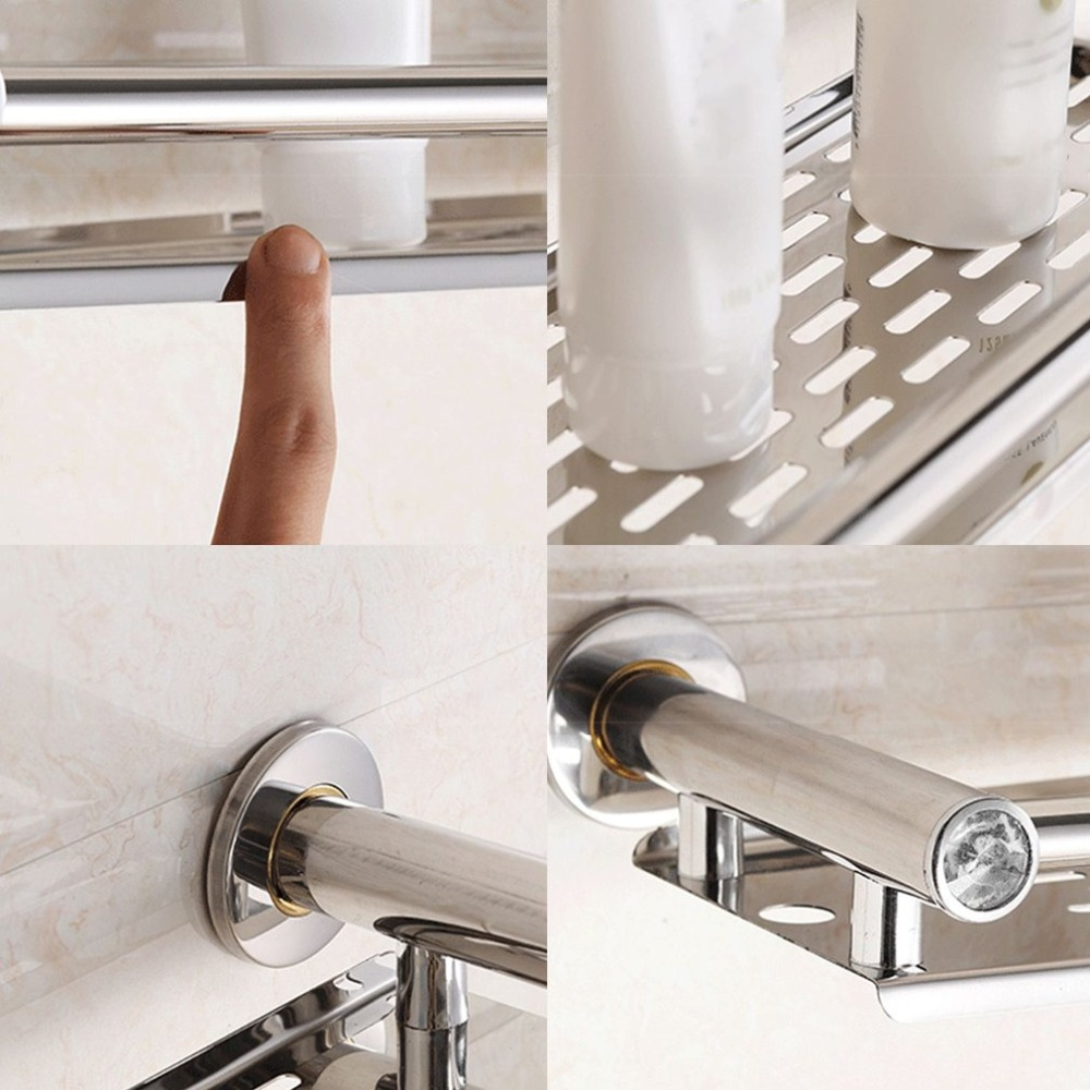 Dropshipping Stainless Steel Anti rust Frame Storage Shelf Wall ...