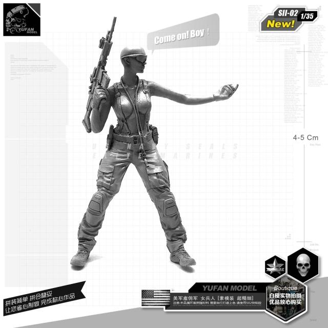 1/35 Model Kits U.s. Special Forces Girls New Version Of Resin Soldier Girls Sii-02