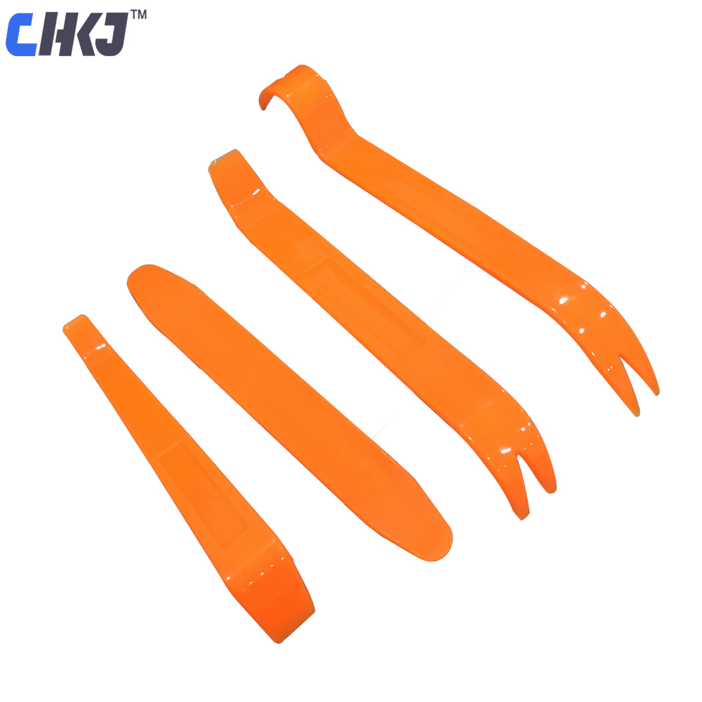 CHKJ 4PCS Portable Auto Car Radio Panel Door Clip Panel Trim Dash Audio Removal Installer Pry Kit Repair Tool Pry Tool Hand Tool
