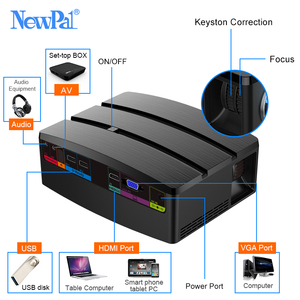 Image 5 - Mini projetor de cinema em casa projetor android wifi beamer 3d hd led proyector com hdmi usb vga av porto afastamento vídeo tv