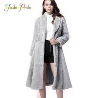 Jade Pride Elegant Real Rex Rabbit Fur Coats Women 2017 New Fashion Winter Natural 7 Colors