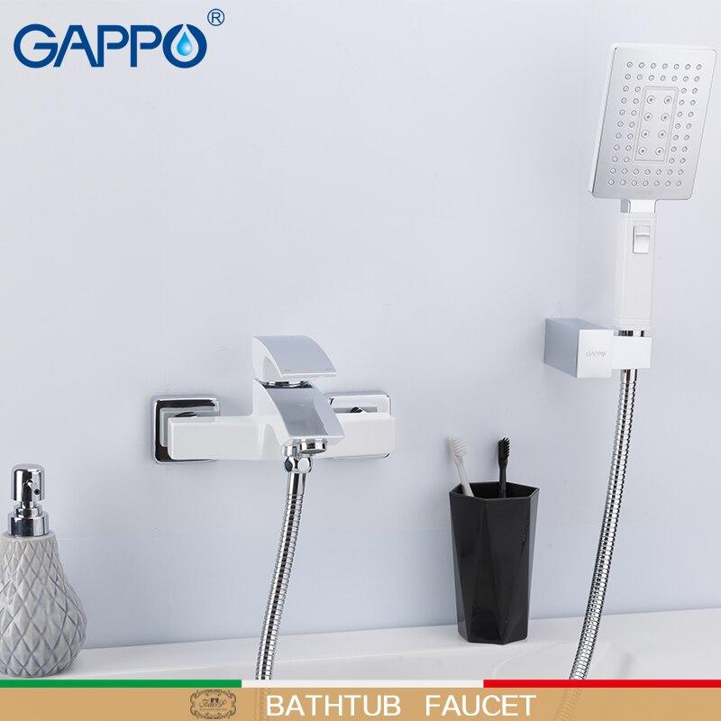 GAPPO Bathtub Faucets bathroom rainfall shower bath mixer taps water tap tub filler white bathtub faucet mitigeur baignoire