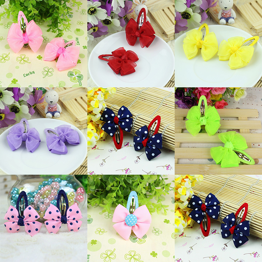 1pcs New Fashion Girls Hair Accessories Candy Color Dot Bow Hairpins Cute Baby Headwear Bowknot Hair Clip Children Headdress 10 12 2000 800 40 11