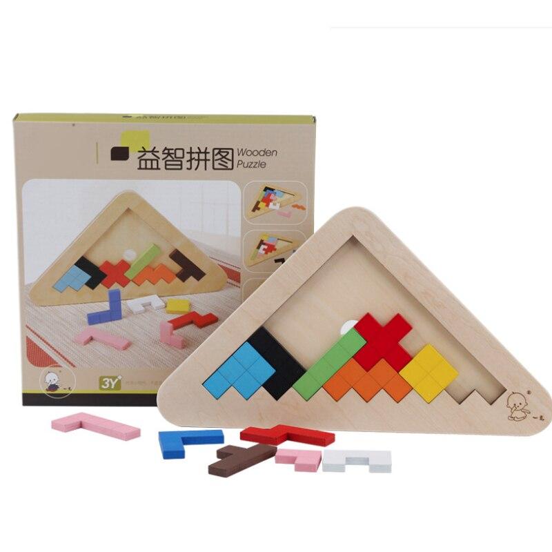 Rompecabezas los niños bebé Educación Temprana de madera Tangram rompecabezas de rompecabezas juguetes regalo para bebé chico infantil