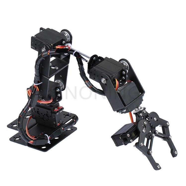 6 DOF Robot Manipolatore Della Lega del Metallo Braccio Meccanico Morsetto Artiglio Kit MG996R DS3115 per Arduino Robot Educazione6 DOF Robot Manipolatore Della Lega del Metallo Braccio Meccanico Morsetto Artiglio Kit MG996R DS3115 per Arduino Robot Educazione