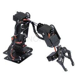 6 DOF Robot Manipolatore Della Lega del Metallo Braccio Meccanico Morsetto Artiglio Kit MG996R DS3115 per Arduino Robot Educazione