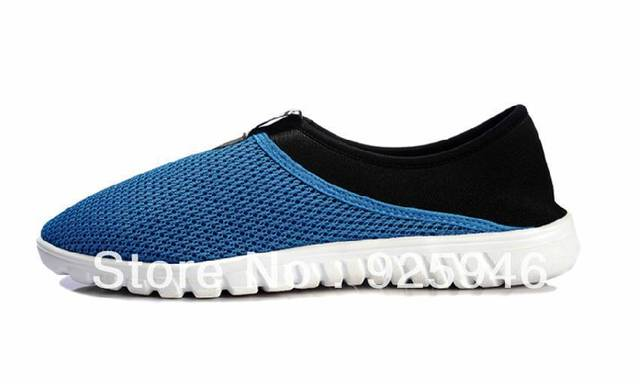Free shipping summer new arrival ultra-light breathable  lazy  lovers net running shoes