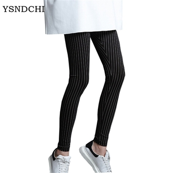 Ysdnchi mujeres vertical Stripe Pantalones espesar otoño Pantalones sexy  elástico pantalones de algodón flaco invierno Mujer Pantalones Venta  caliente ... 67190de14e2
