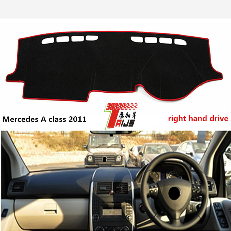 TAIJS Hot Selling car dashboard mat right hand drive for Meredes-benz A class 2011 lucifugal for Meredes-benz