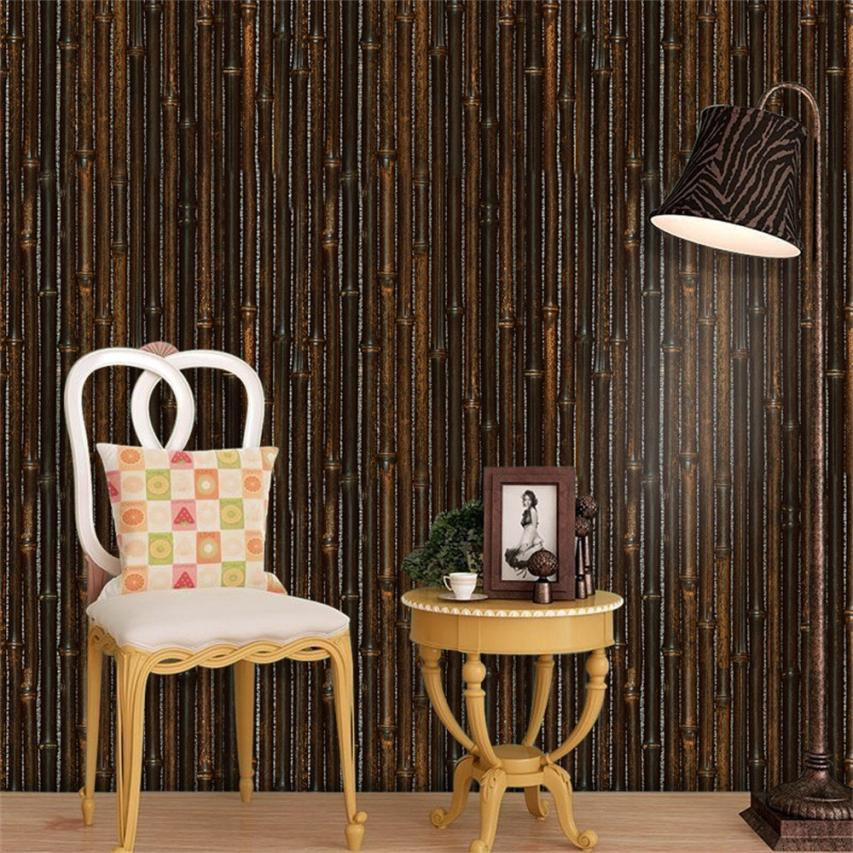 1 PC Wall Stickers 3D Wall Paper Brick bamboo Effect Self-adhesive Wall Sticker Room Dec ...