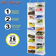ФОТО NK Gozip 26 Pockets Over Door Hanging Bag Box Shoes Organize Rack Hanger Storage Tidy Storage Box Hanging Bags
