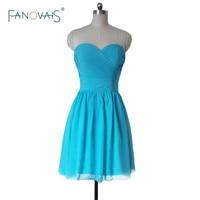 Blue 2016 Best Selling Chiffon Knee Length Vestido De Festa Longo Robe De Soiree Bridesmaid Dresses