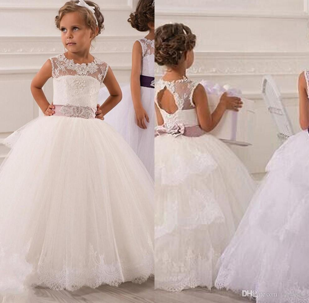 Popular little girl prom dresses buy cheap little girl for Little flower girl wedding dresses