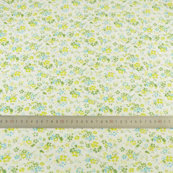 100% bawełna tkaniny zielony i żółty kwiat projekt do szycia tkaniny Tecido tkanki Tilda Fat Quarter rzemiosło lalki CM Patchwork tkaniny
