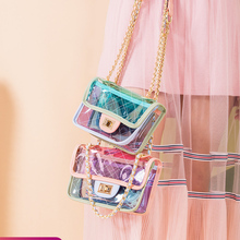 2019 Fashion Transparent Jelly Cute wild Waterproof Convenient Messenger Shoulder Chain Bag Female Handbags