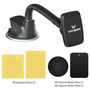 Image 5 - Yianerm mıknatıslı telefon tutucu Telefon Araba Manyetik vantuz tutucu Standı iPhone X Xs Max 8 Artı Samsung S9 Artı GPS