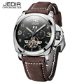 Luxury brand JEDIR Antique Tourbillon Wrist watch Mens Leather Date automatic Mechanical Watches military sports vintage watch