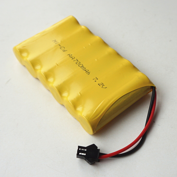 Rechargeable 7.2V 700MAH AA*6 Ni-CD Battery for Toys Power Bank