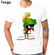 7f8f21922175 funny Cotton Loose Shirts Men s Marvin The Martian T Shirt Men s Graphic  O-Neck Short-Sleeve Tees homme shirts