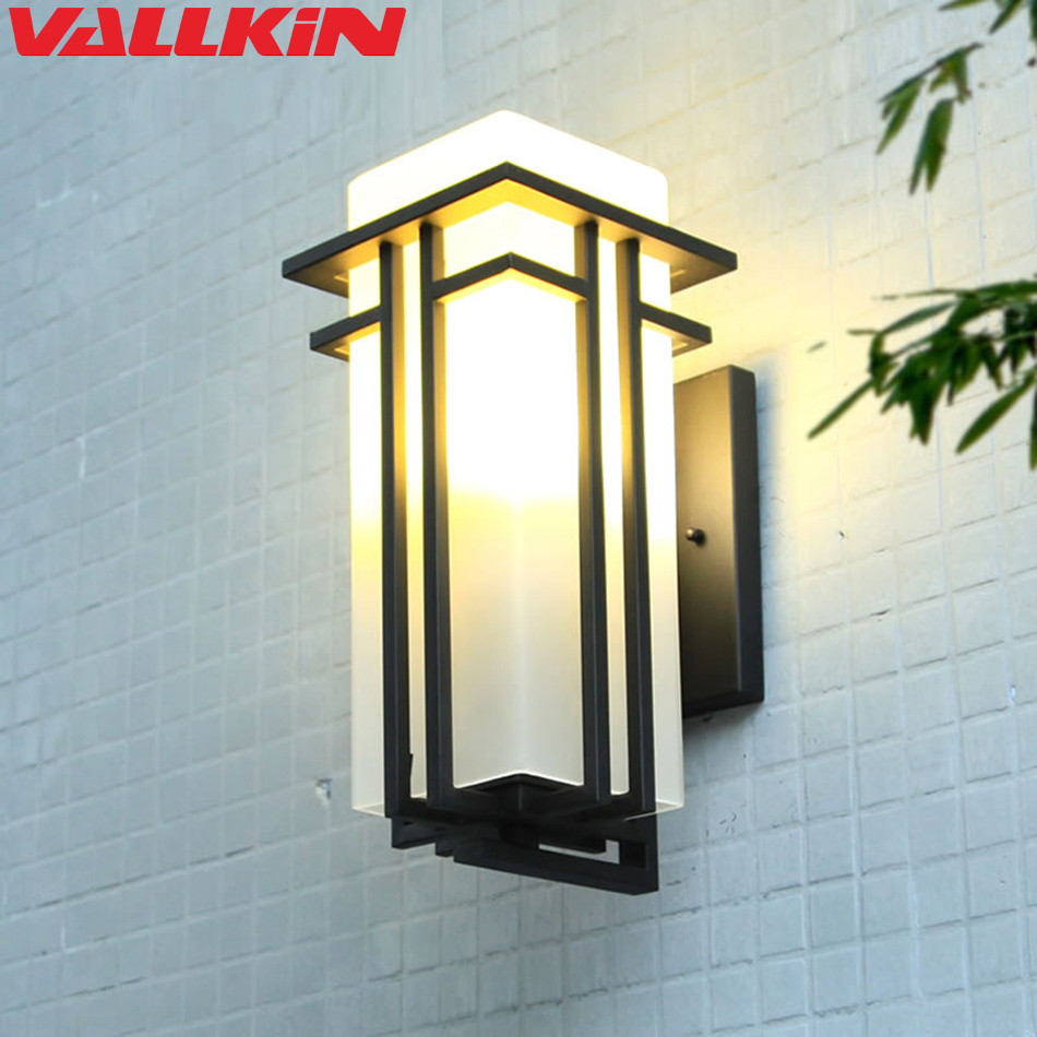 Modern Outdoor Lighting Wall Lamp Waterproof Wall Lights Porch Light Up and Down Lamp Fixtures Matte Black Corridor Hallway
