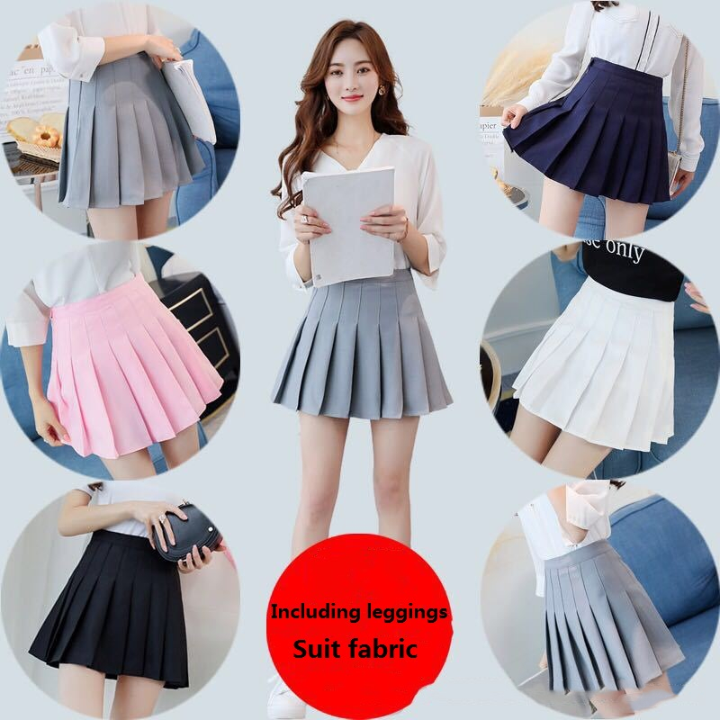 Hot Japanese Korean Version Short Skirts School Girl Pleated Half Skirt School Uniform Cosplay Student Jk Academy Ten Colors 3XL