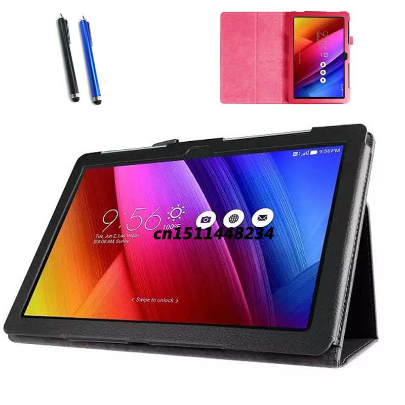 Stylus +luxury Litchi Leather stand case cover For Asus Zenpad 10 Z300CL Z300CG Z300C Z300 Z300CNL 10.1 Tablet Protective shell