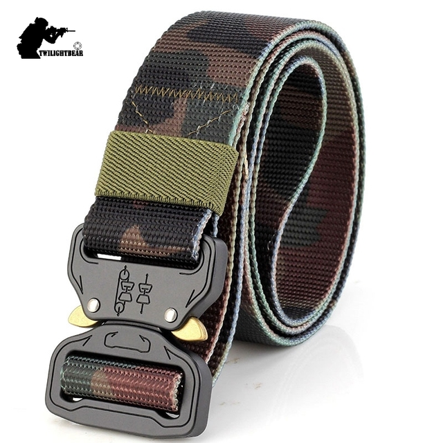New Cobra Buckle Tactical Belt 3.8cm High Quality Nylon 125cm Casual Canvas Belt For Men And Women Camouflage Tactical Belt H3E1