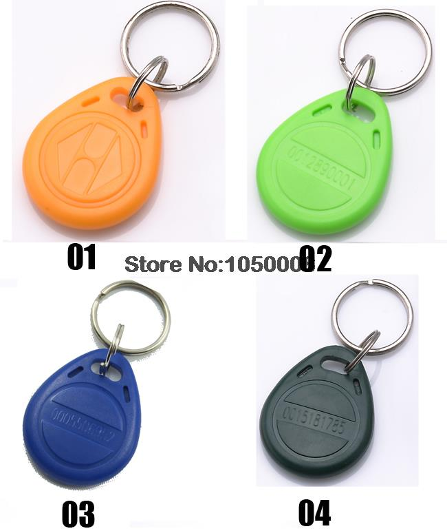 1000pcs/lot 125Khz RFID tag Proximity ID Card Key tag keyfobs,Access Control Card Blue yellow red free shipping 1000pcs lot factory price cmyk customized printing pvc combo card die cut key tag with qr barcode