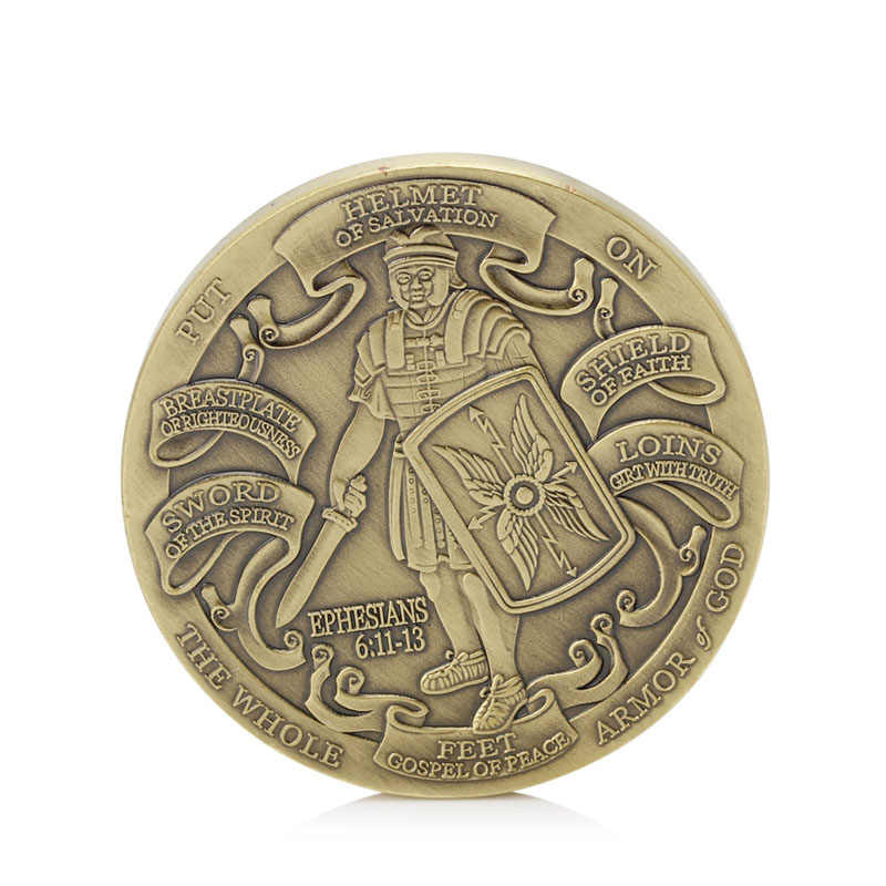 New 1PC Put On The Full Armor Of God / Marine Corps Coins Commemorative Collectible Gift