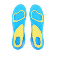 Insoles For Shoe Orthotic Arch Support Massaging Silicone Anti Slip Gel Soft Sport Insole Pad Foot