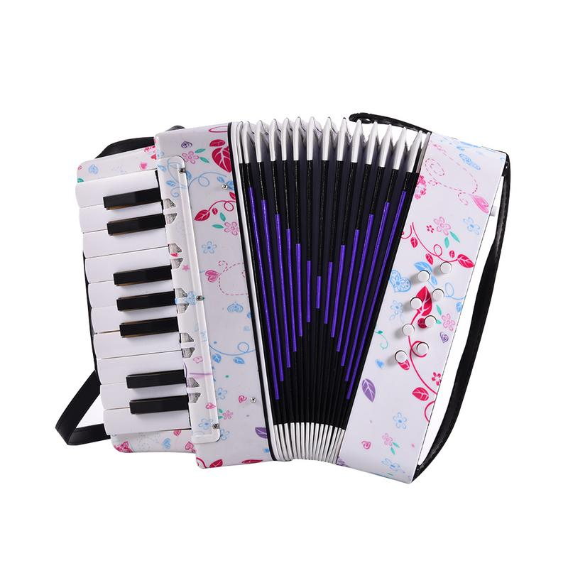 KEEP 17 Key 8 Bass Children Accordion Entry Level Red Heart Cute Looking Accordion Playing Music Instrument