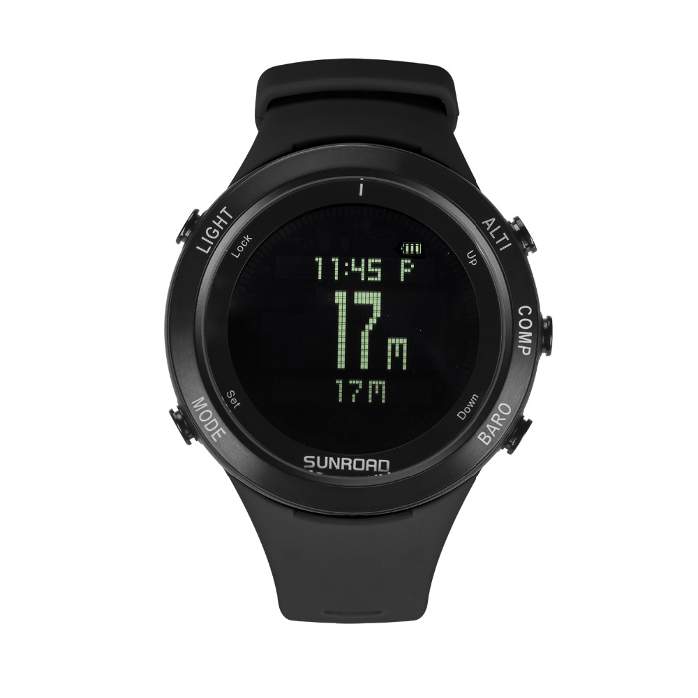 SUNROAD Smart Heart Rate Men Watch with Compass Barometer Stopwatch Altimeter Clock Hiking Swimming Sports WristatchSUNROAD Smart Heart Rate Men Watch with Compass Barometer Stopwatch Altimeter Clock Hiking Swimming Sports Wristatch