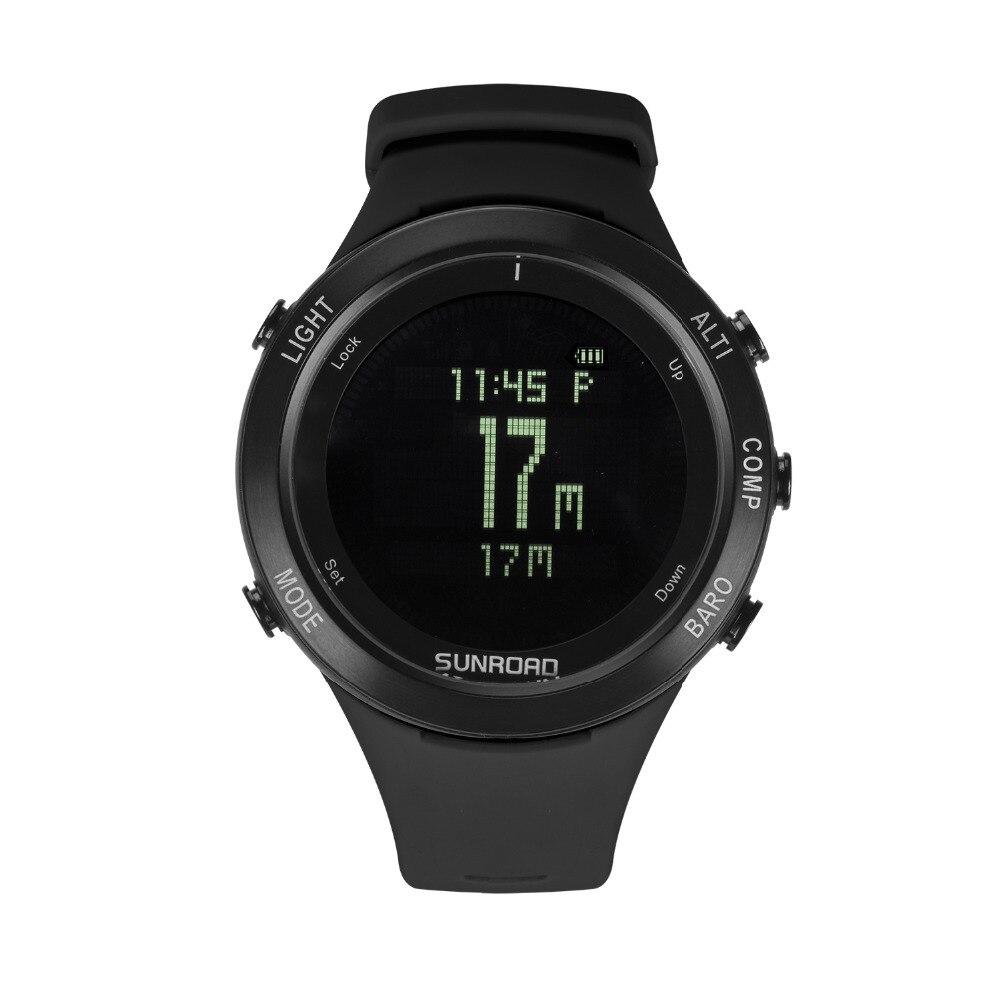 SUNROAD Smart fréquence cardiaque hommes montre avec boussole baromètre chronomètre altimètre horloge randonnée natation sport poignet