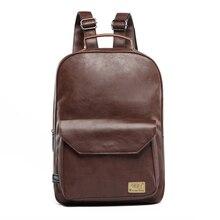 Fashion Preppy Style Men Business Double Shoulder Bags Women Waterproof Pu Leather Laptop Backpack College School Bag
