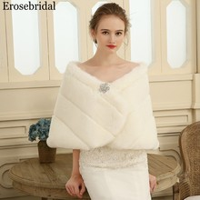 Erosebridal 2019 New Bolero Women Fur Shawl Elegant Wedding Cape for Adult Evening Capes 48 Hours Shipping In Stock