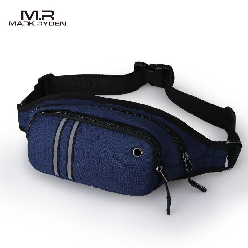 2019 Mark Ryden paquetes de cintura de hombre Casual estilo impermeable de la cintura bolsas de lona bandolera-in Riñoneras from Maletas y bolsas    1