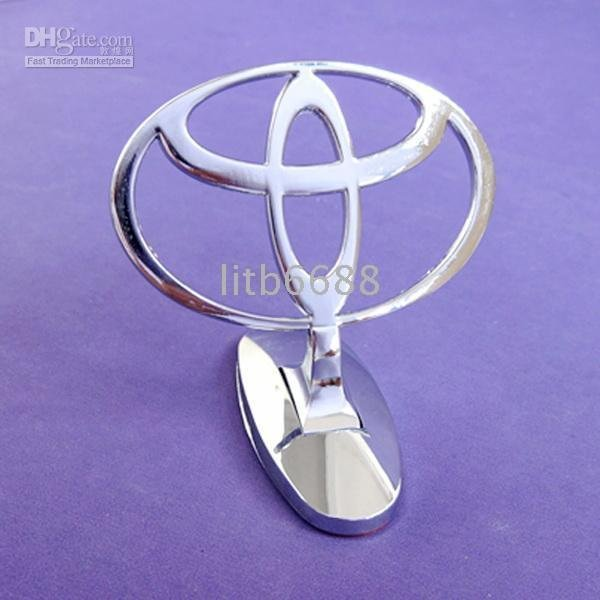 free shipping Bonnet Emblem Badges For Toyota Metal Logo Advanced Plating Luxury Car Front Hood