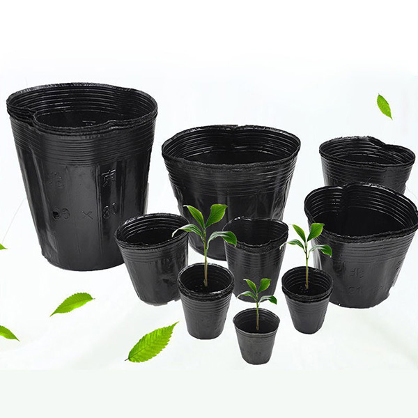 100pcs Plastic Nursery Pot Plant Seedling plantSeed Pouch Holder Raising Bag Nutrition Pots Garden Supplies