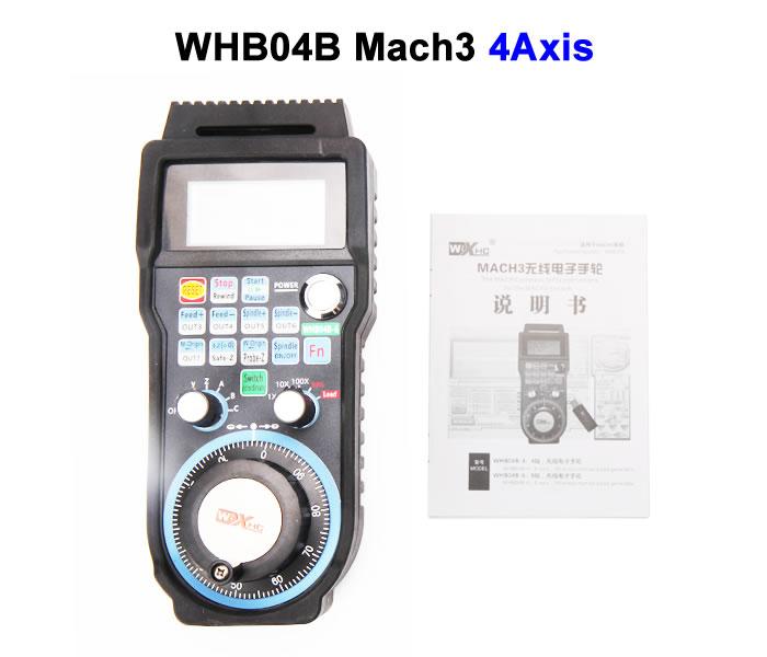 Wireless USB CNC Handwheel WHB04B 4Axis Mach3 handwheel for CNC Machine engraving machine remote control handwheel mach3 mpg usb wireless handwheel for cnc 3 4 axis controller milling machine a545a