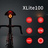 XLite 100 велосипедный фонарь задний фонарь для велосипеда Автоматический запуск/стоп-сигнал, водонепроницаемый светодиодный фонарь для заряд...