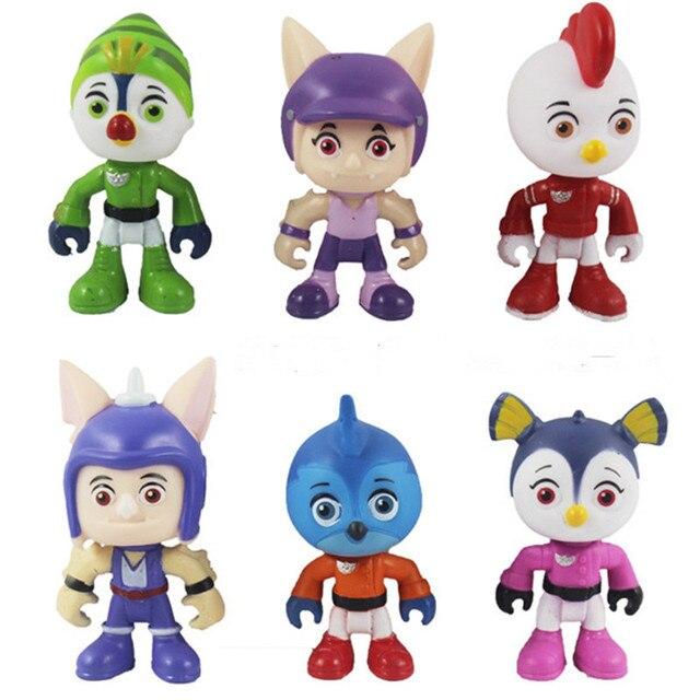 6 шт./компл. Топ Крыло фигурка игрушки Swift, Rod, Penny, Brody фигурные игрушки коллекционные куклы детские игрушки
