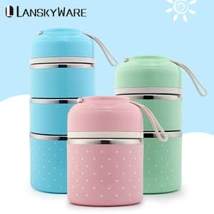 Thermal Lunch Box For Kids Leak-Proof Stainless Steel Bento Box Kids Cute Japanese Portable Picnic School Food Container Box