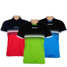 Oryginalna DNOIC Summer style tenis stołowy Badminton koszula fitness Outdoor sportowa koszula Quick Dry dla mężczyzn i kobiet T-shirt tanie tanio Donic Unisex Pasuje do rozmiaru Weź swój normalny rozmiar