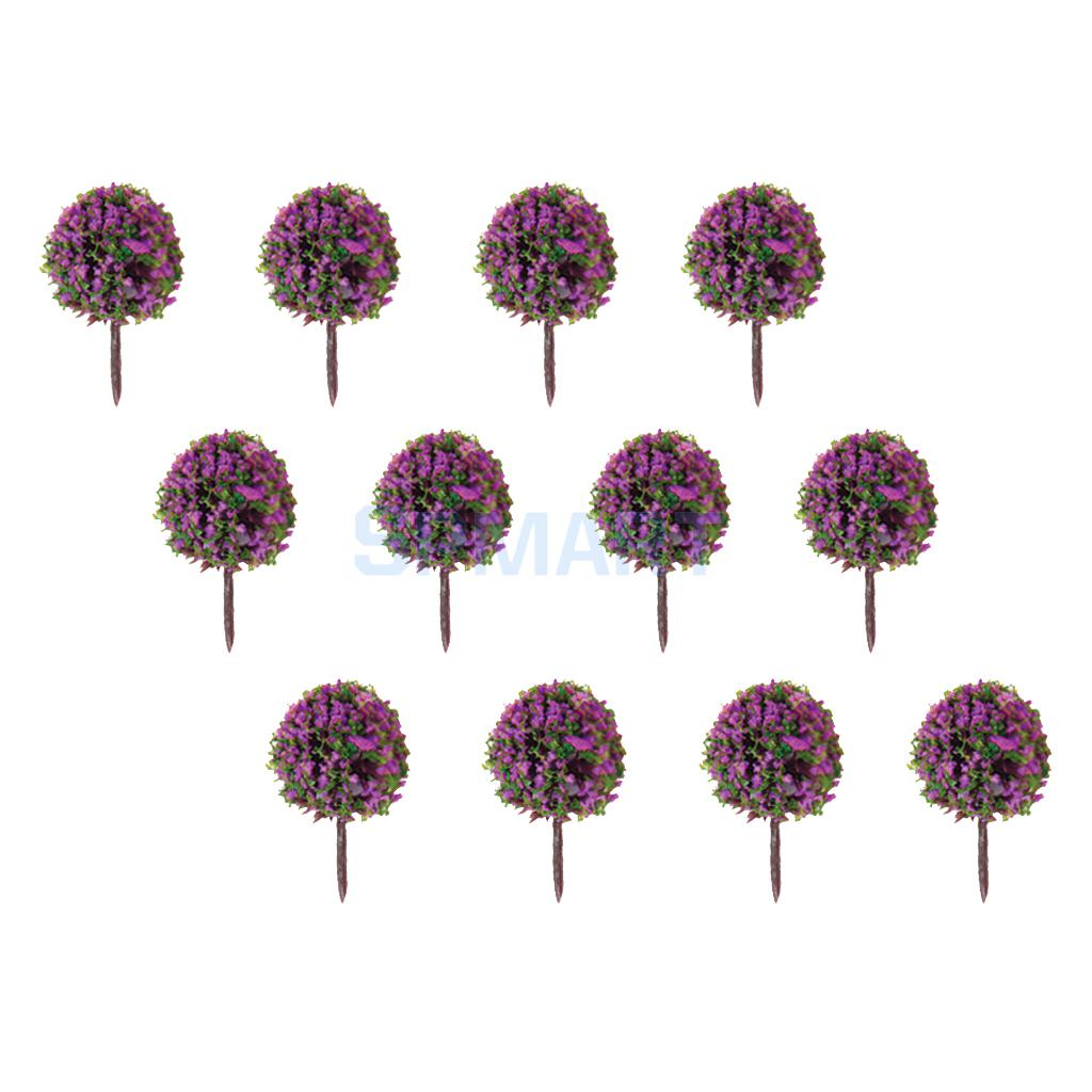 Toys & Hobbies Expressive 50pcs Purple Flower Model Train Ho Trees Ball Shaped Scenery Landscape 1/100 Scale More Discounts Surprises Model Building