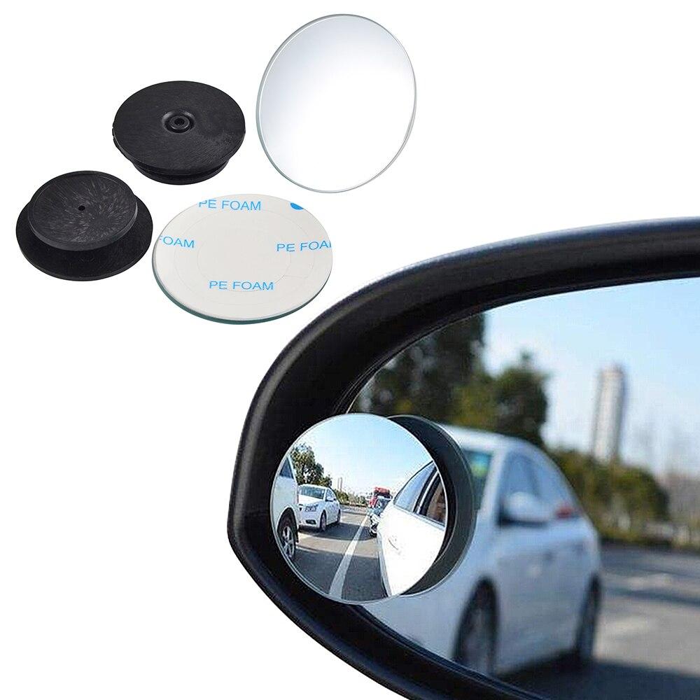 NICECNC 360 degrés universel Angle mort miroir pour voiture offre spéciale sans cadre ultra-mince grand Angle rond convexe rétroviseur