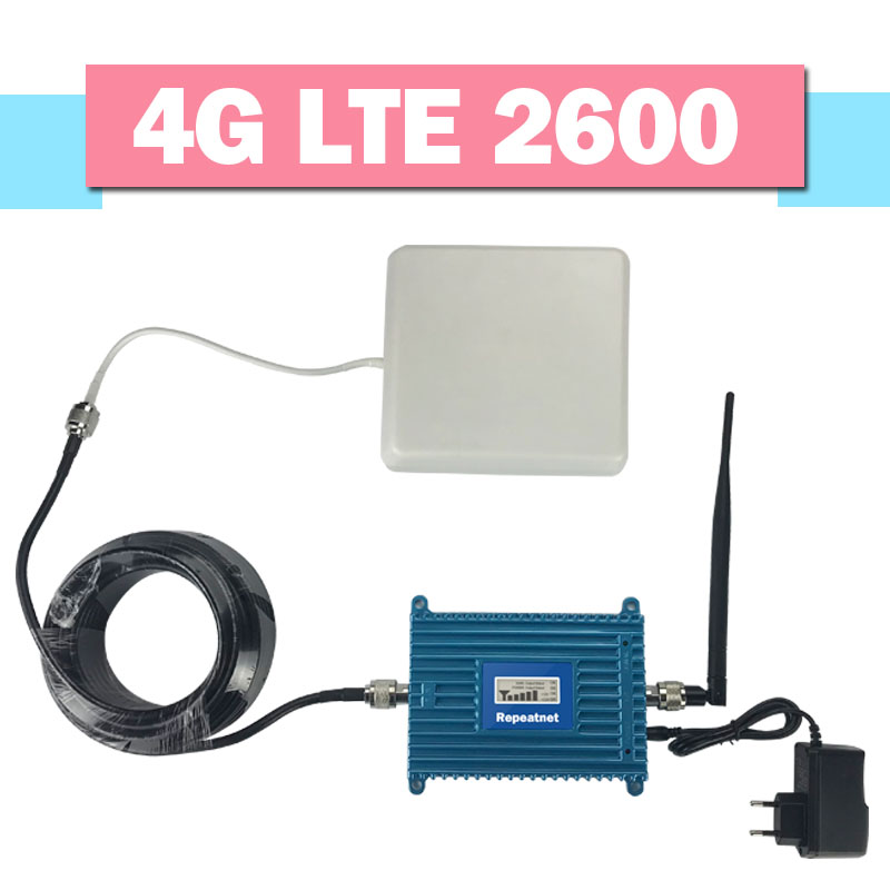Repeatnet 4g LTE 2600 Mobile Signal Booster FDD Band 7 Verstärker 4g LTE 2600 mhz Handy-Signal-Repeater 70dB Gain LCD Display