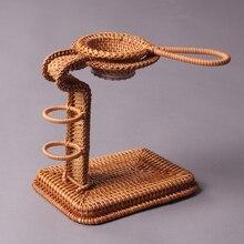 Vietnam Autumn Vine Tea Tray Accessories Kungfu Set Holder Creative Handmade Rattan Filter for Lazy Person C