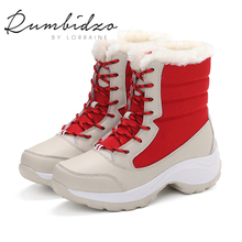 2016 Fashion Men Women Winter Snow Boots keep Warm Boots Plush Ankle boot Snow Work Shoes Men's Women's Outdoor Snow Boots